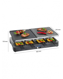 Raclette Grill con piedra natural 8px